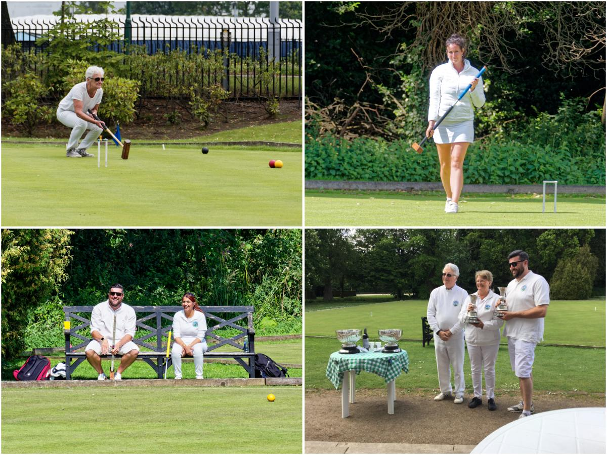 montage of 4 assorted shots of players at our Annual tournament - all in white